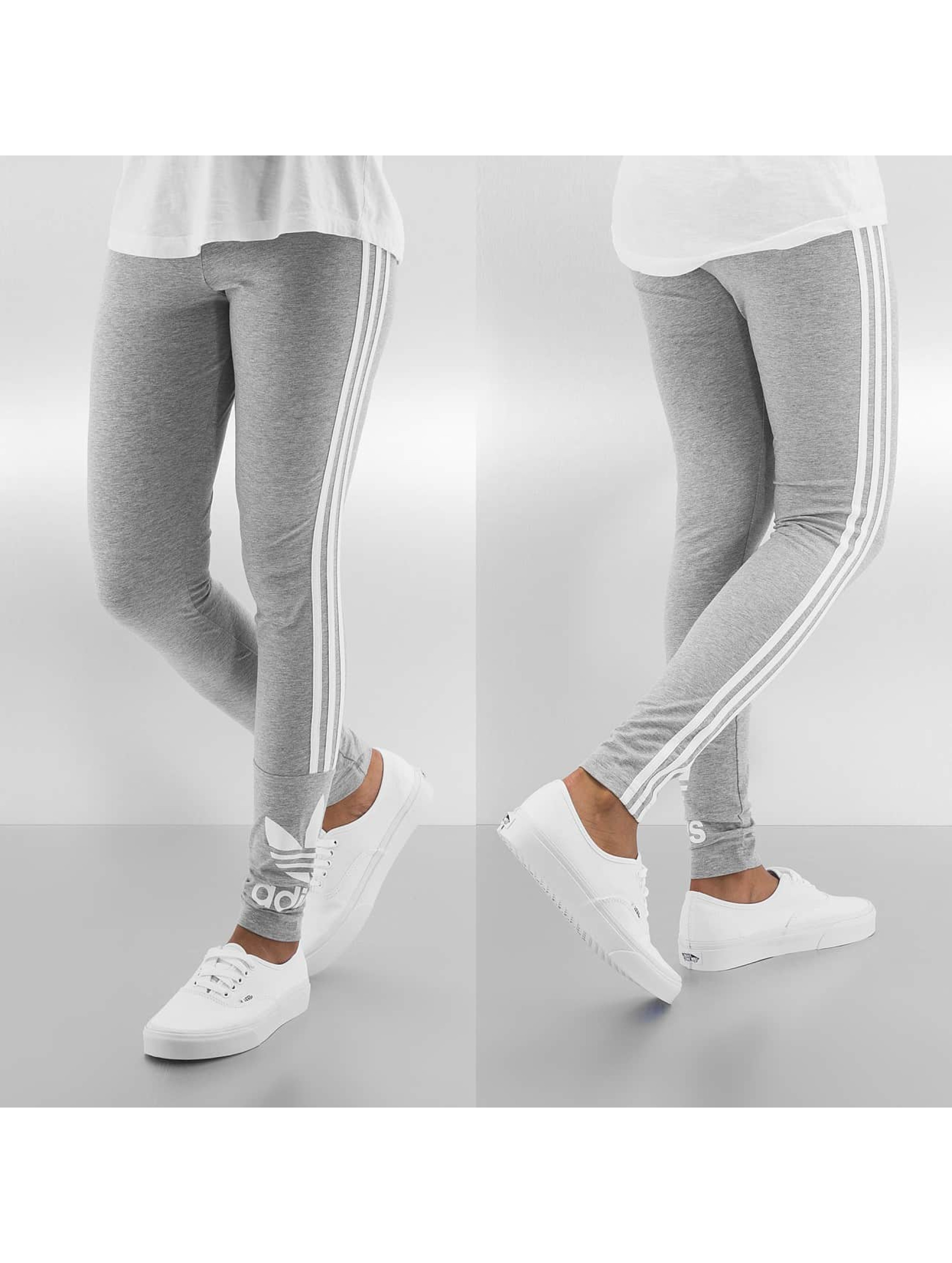 adidas pantalon leggings 3 stripes en gris. Black Bedroom Furniture Sets. Home Design Ideas